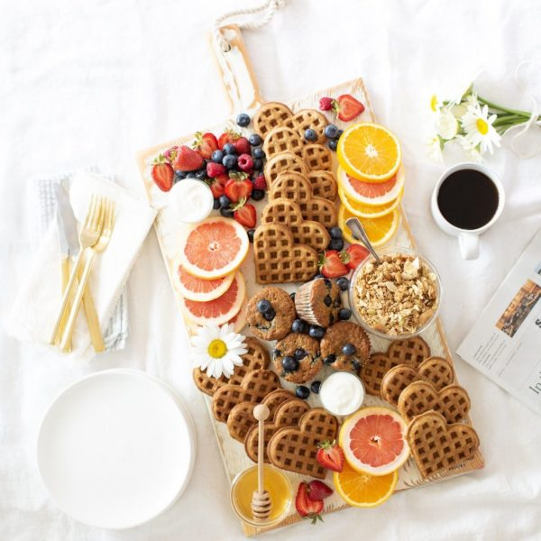 Waffle Brunch Board | 25+ Valentine's Day Charcuterie Boards