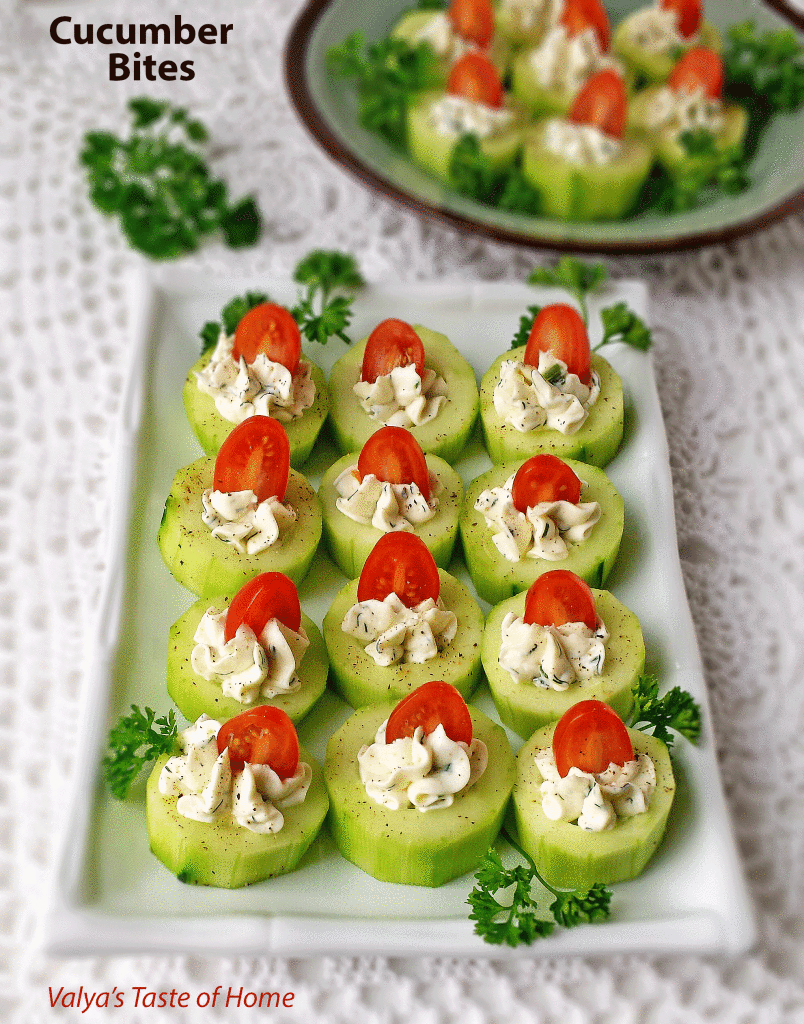 Cucumber bites | 25+ MORE Easy No Cook Appetizers