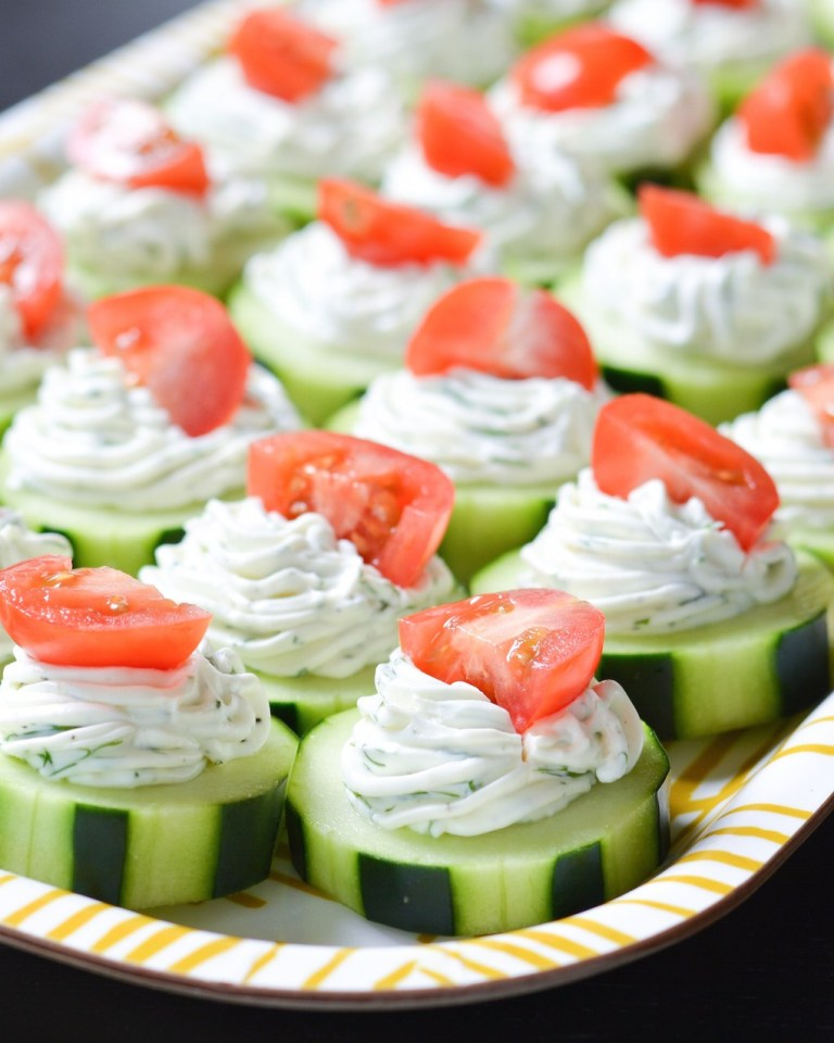 Dilly Cucmber Bites | 25+ MORE Easy No Cook Appetizers