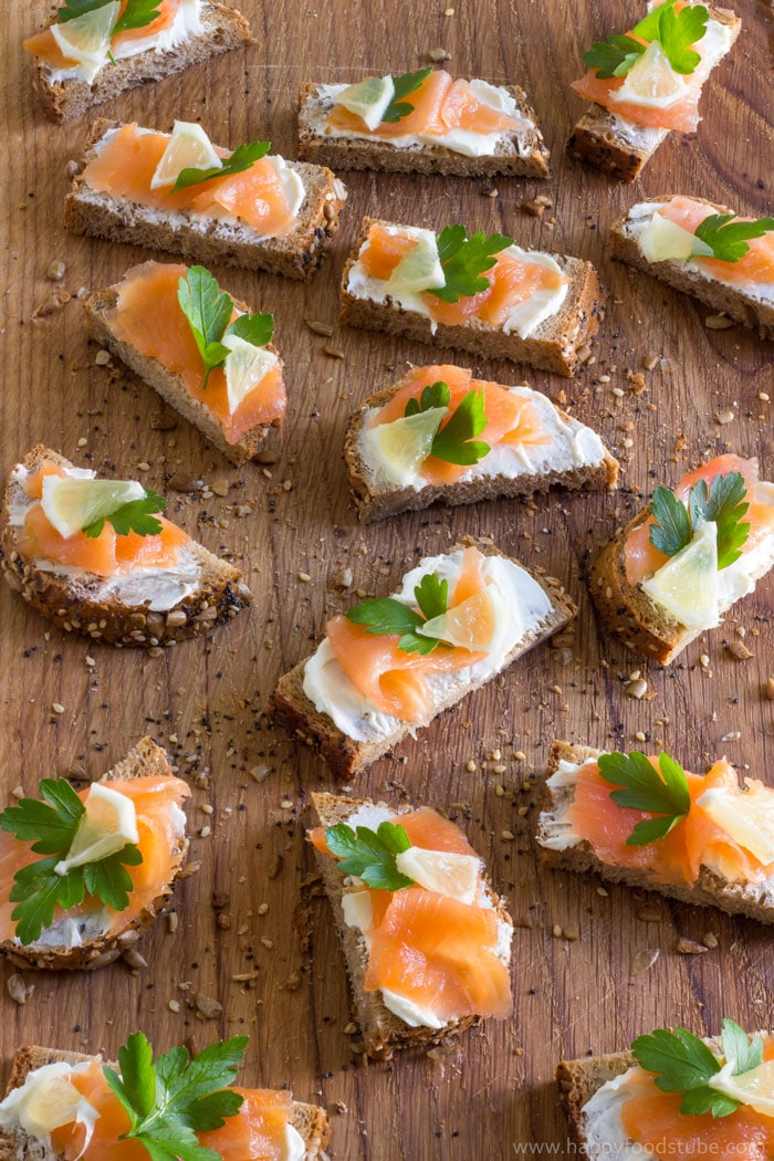 Easy smoked salmon bites | 25+ MORE Easy No Cook Appetizers