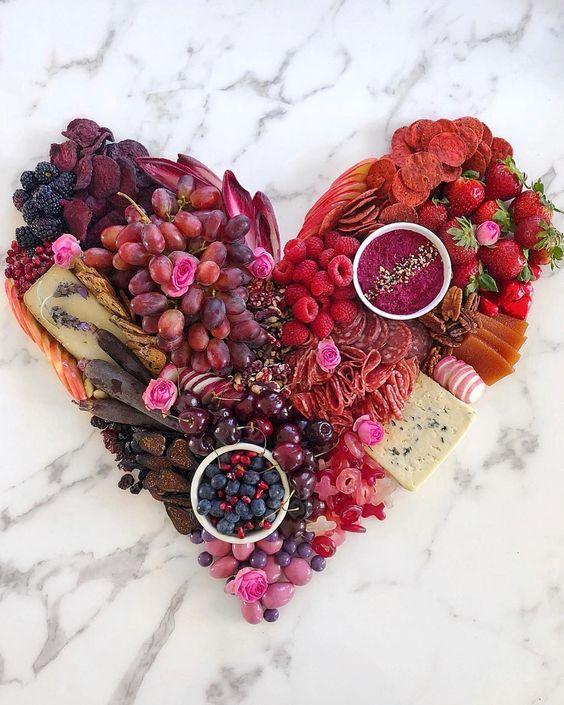 Heart Shaped Board | 25+ Valentine's Day Charcuterie Boards