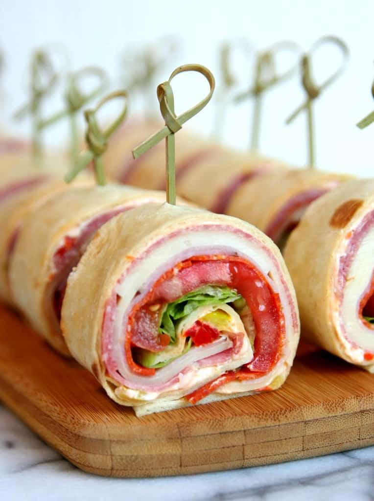 Italian sandwich rollups | 25+ MORE Easy No Cook Appetizers