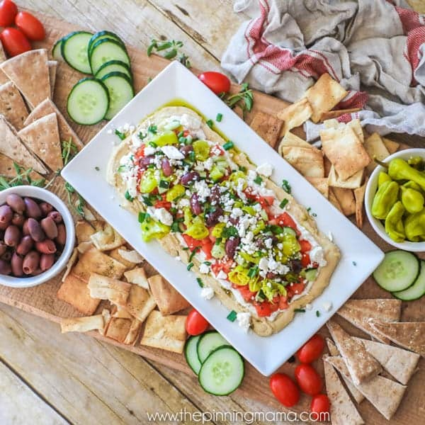 Seven Layer Greek Dip | 25+ MORE Easy No Cook Appetizers