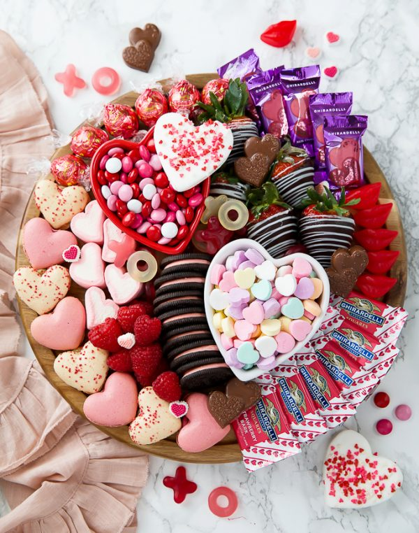 Sweet Treat Dessert Board | 25+ Valentine's Day Charcuterie Boards