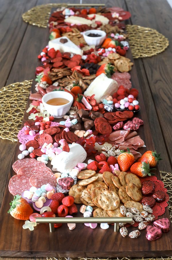 Valentine Board Runner | 25+ Valentine's Day Charcuterie Boards