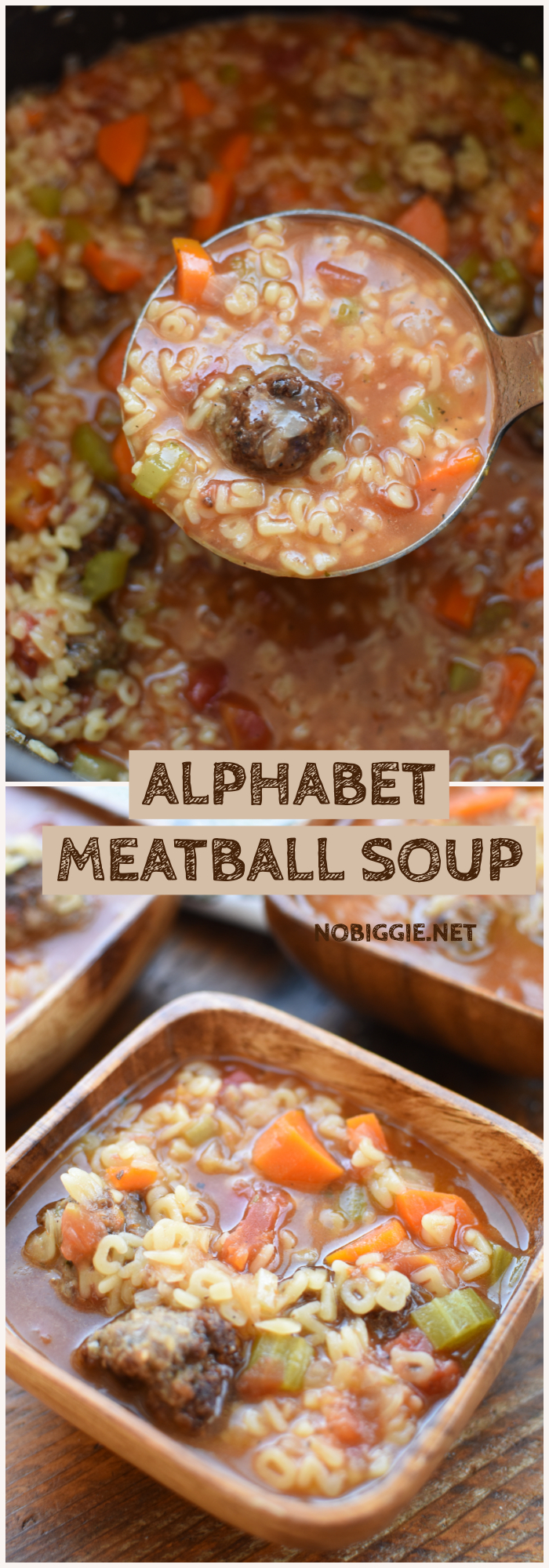 Alphabet Soup with Meatballs