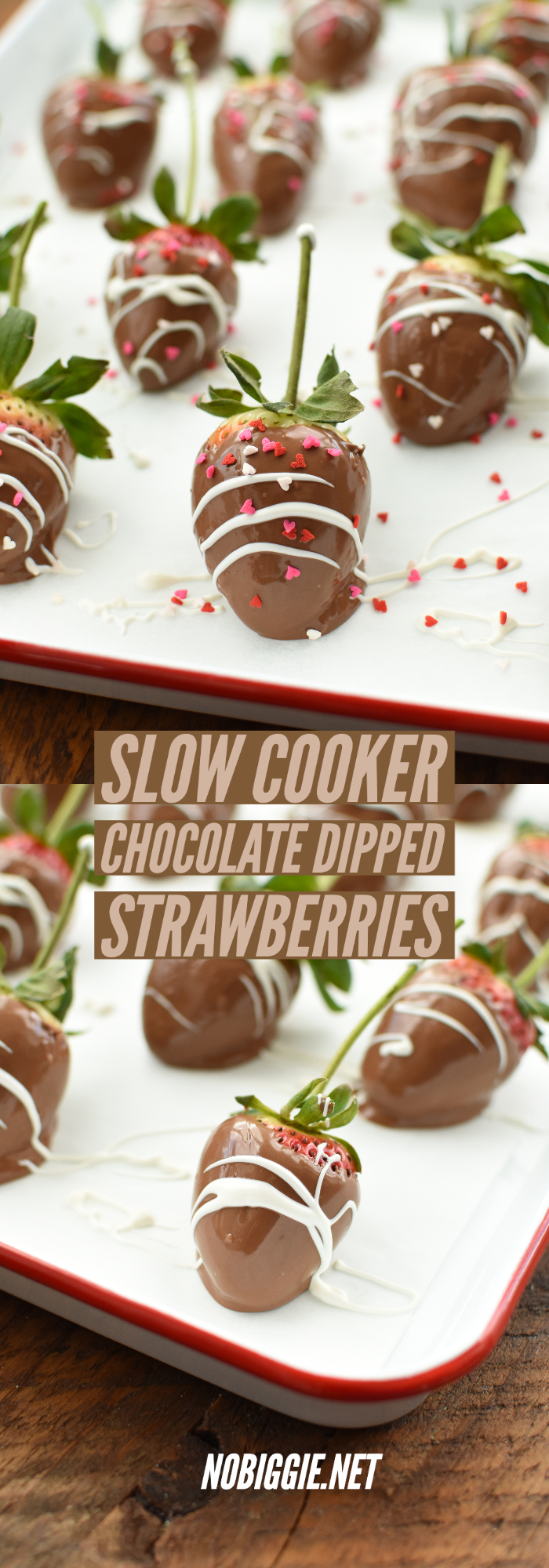 slow cooker chocolate dipped strawberries | NoBiggie.net