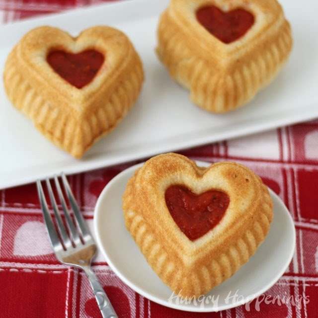 Calzone Hearts | 25+ MORE Heart Shaped Food