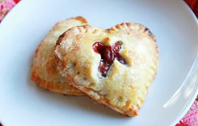 Cherry Heart Hand Pie | 25+ MORE Heart Shaped Food