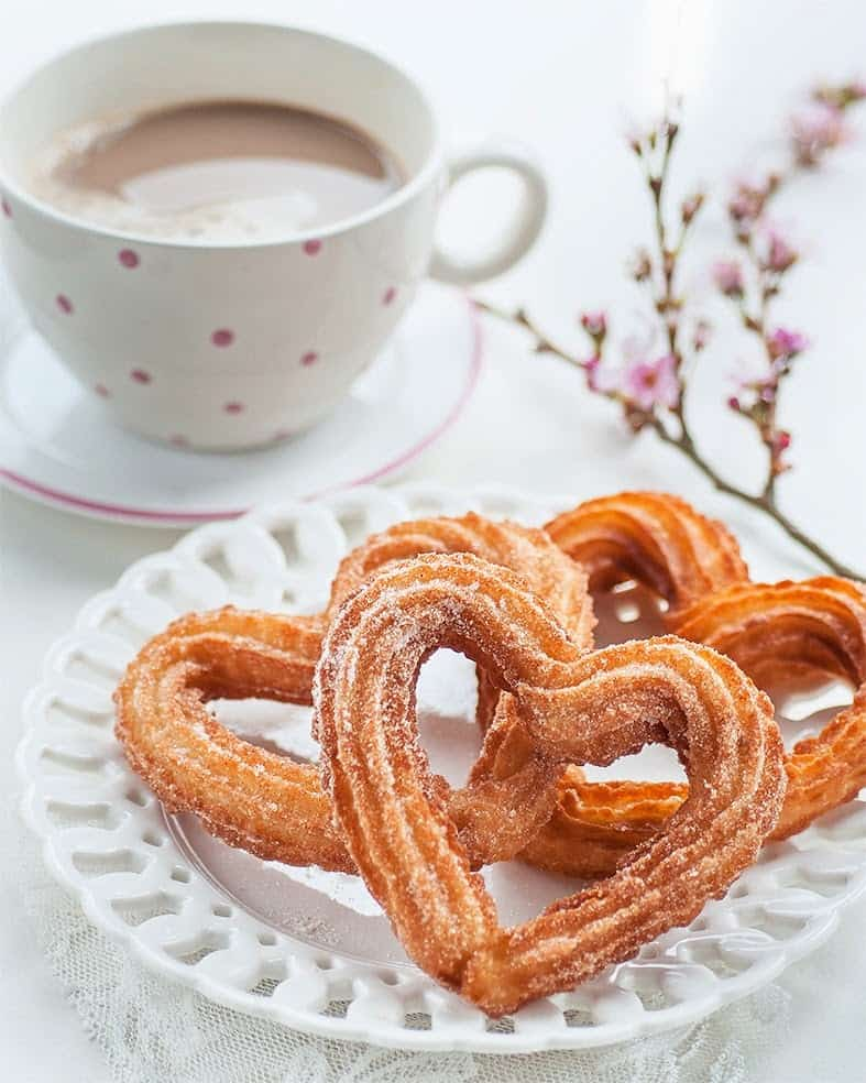 Heart Churros | 25+ MORE Heart Shaped Food