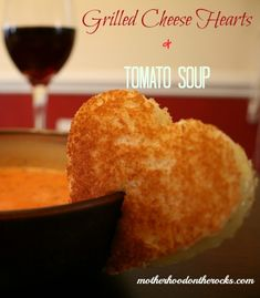 Heart Grilled Cheese and Tomato Soup | 25+ MORE Heart Shaped Food