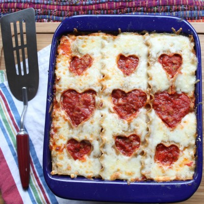Heart Lasagna | 25+ MORE Heart Shaped Food