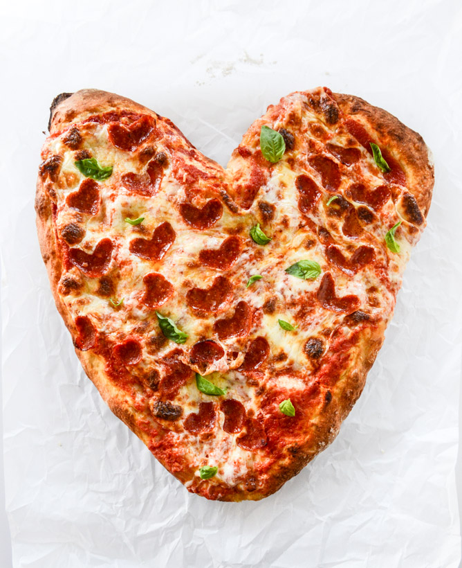 Heart Pepperoni Pizza | 25+ MORE Heart Shaped Food