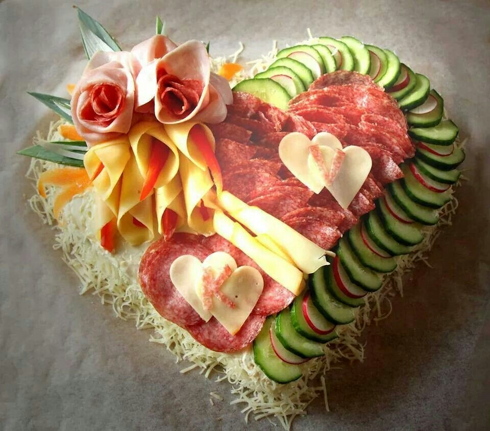 Heart Salad | 25+ MORE Heart Shaped Food
