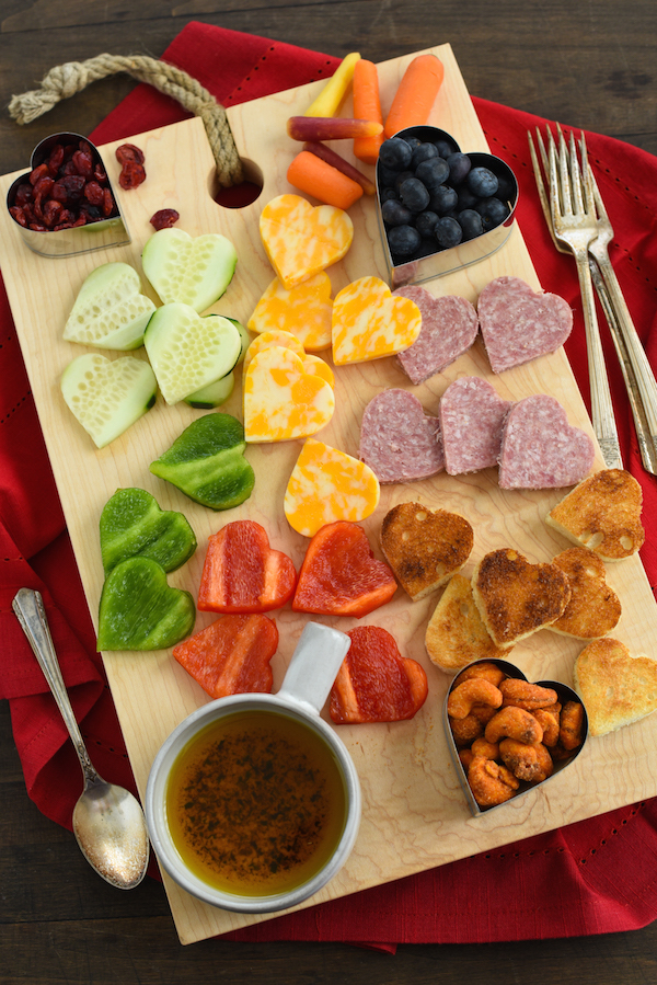 Heart Shaped Snack Board | 25+ MORE Heart Shaped Food