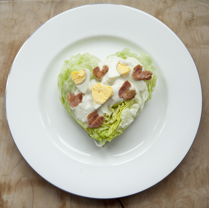 Heart Wedge Salad | 25+ MORE Heart Shaped Food