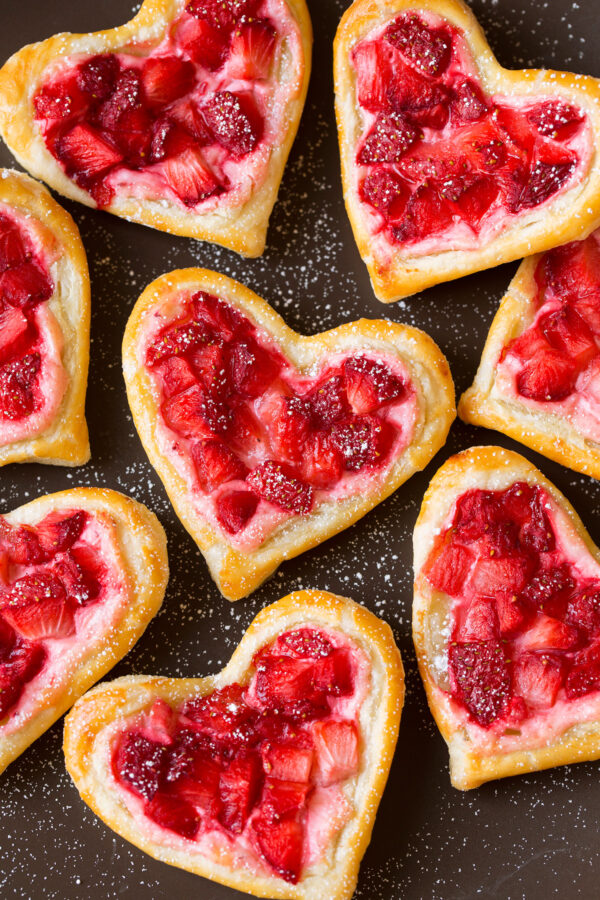 Strawberry Cream Cheese Heart Pastry | 25+ MORE Heart Shaped Food