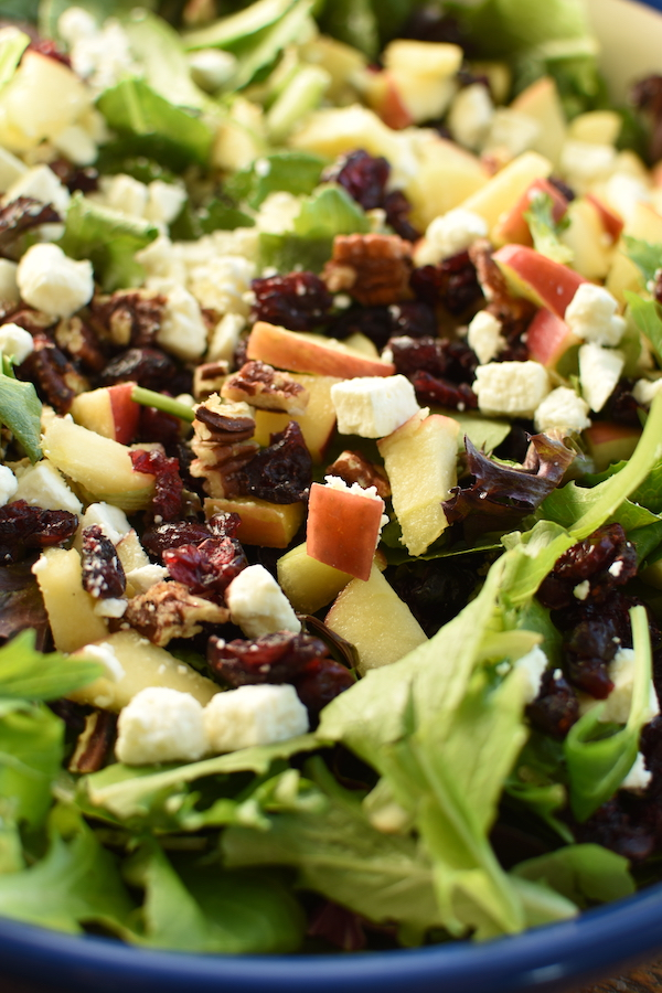 apple pecan feta spinach salad for fall | NoBiggie.net
