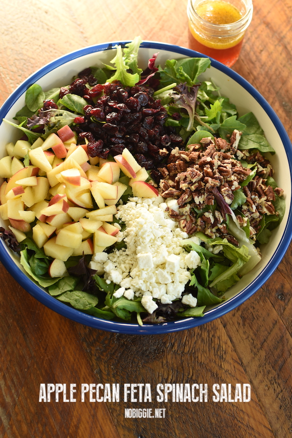 apple pecan feta spinach salad | NoBiggie.net