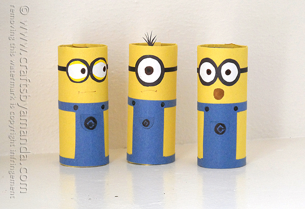 Cardboard Tube Minion | Toilet Paper Roll Crafts