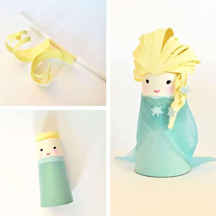 Elsa from Frozen Toilet Paper Tube Craft | 25+ Toilet Paper Craft projects