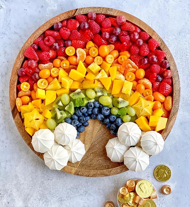 Fruit Rainbow Board | St. Patrick's Day Charcuterie Boards