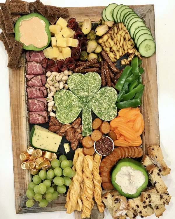 Irish Snack Board | St. Patrick's Day Charcuterie Boards