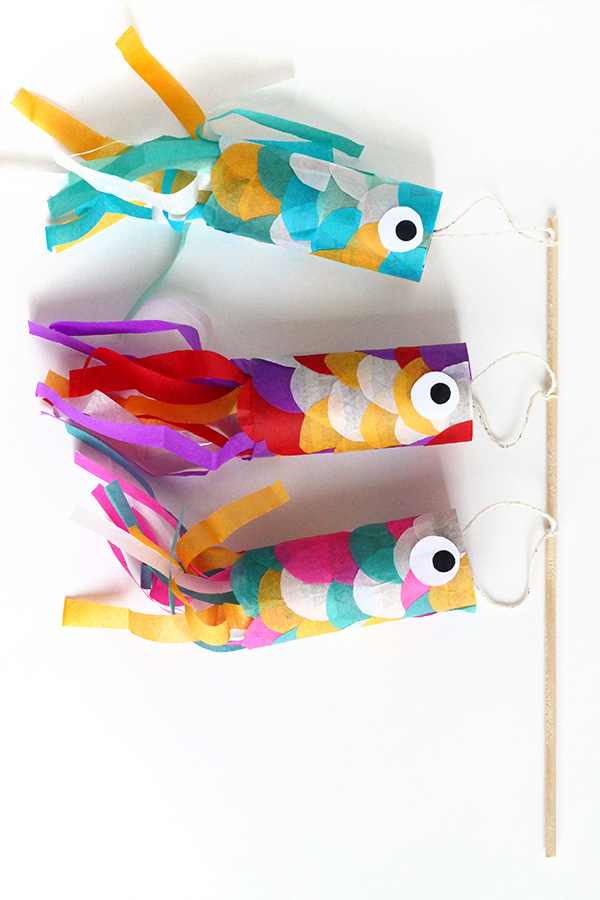 Japanese Flying Carp | Toilet Paper Roll Crafts