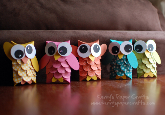 Owl Pillow Boxes | Toilet Paper Roll Crafts