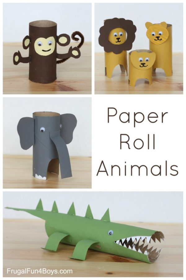 Paper Roll Animals | Toilet Paper Roll Crafts