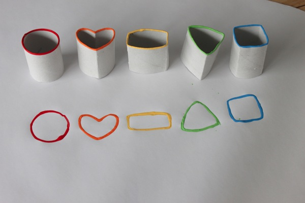 Paper Roll Shape Stamps | Toilet Paper Roll Crafts