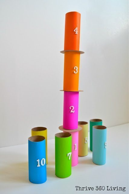 Paper Roll Stacking Towers | Toilet Paper Roll Crafts