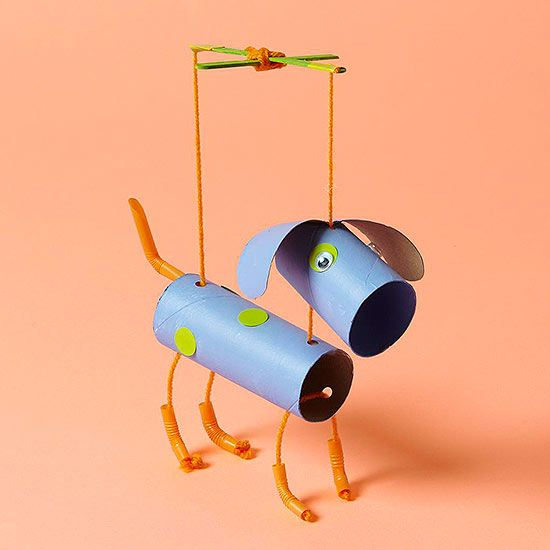 Puppy Marionette | Toilet Paper Roll Crafts