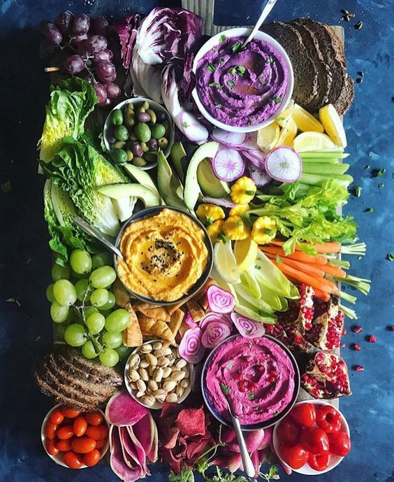 Rainbow Veggie and Humus Board | St. Patrick's Day Charcuterie Boards