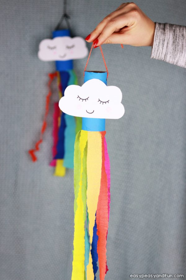 Rainbow Windsock | Toilet Paper Roll Crafts