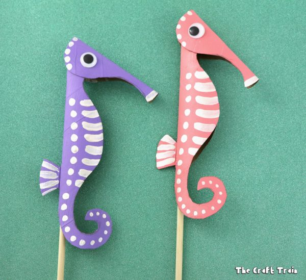 Seahorse Puppets | Toilet Paper Roll Crafts