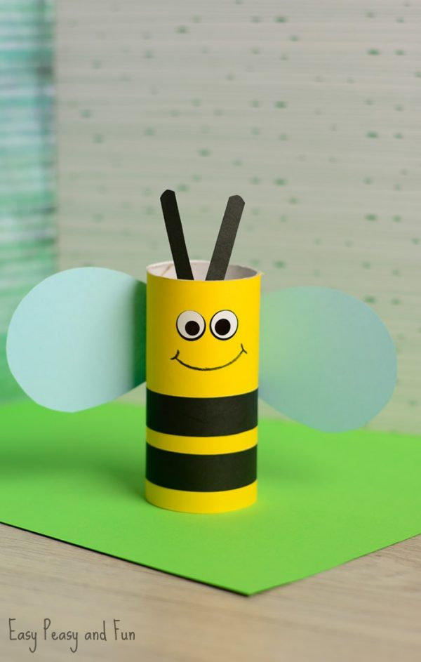 Toilet Paper Roll Bee | Toilet Paper Roll Crafts