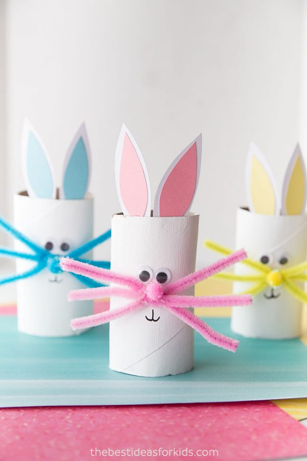 Toilet Paper Roll Bunny | Toilet Paper Roll Crafts