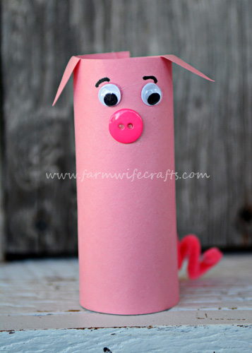 Toilet Paper Roll Pigs | Toilet Paper Roll Crafts