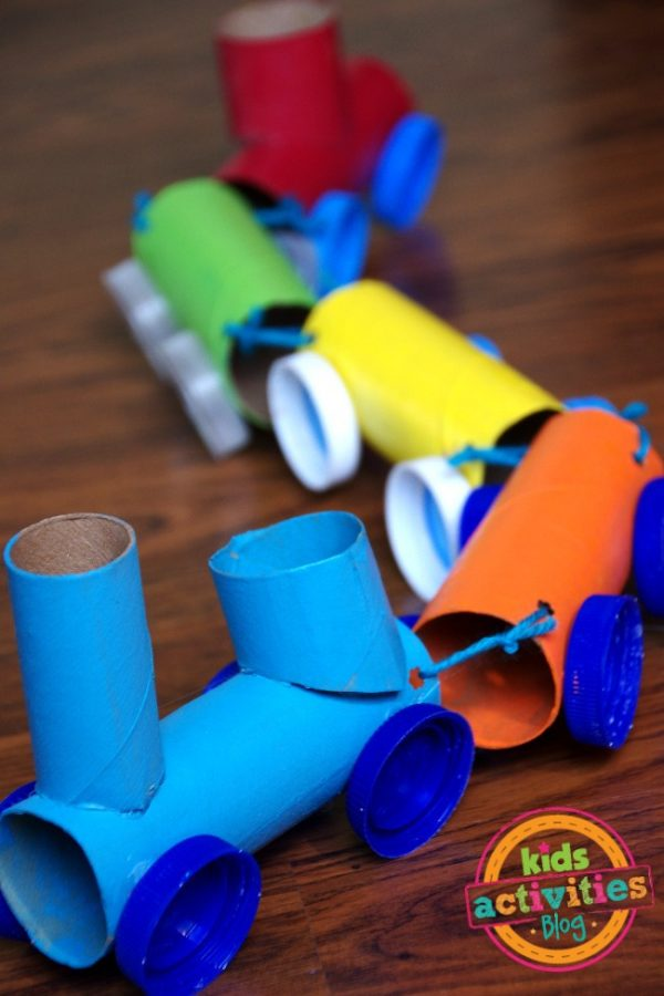 Toilet Paper Roll Train | Toilet Paper Roll Crafts