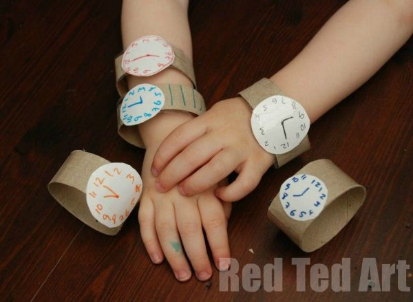 Toilet Paper Roll Watches | Toilet Paper Roll Crafts