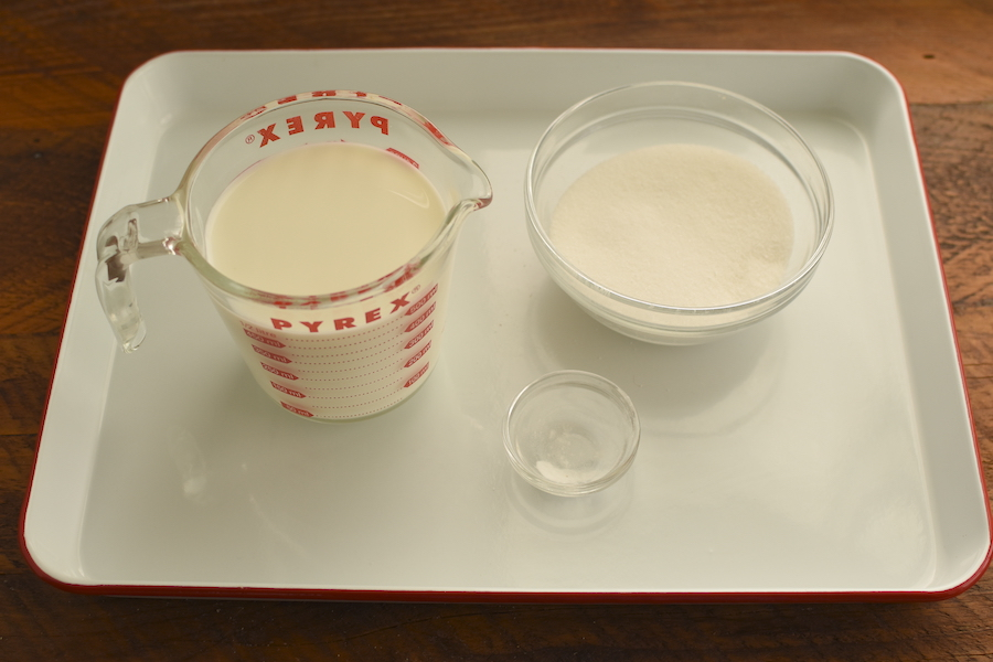 ingredients for sweetened condensed milk | NoBiggie.net