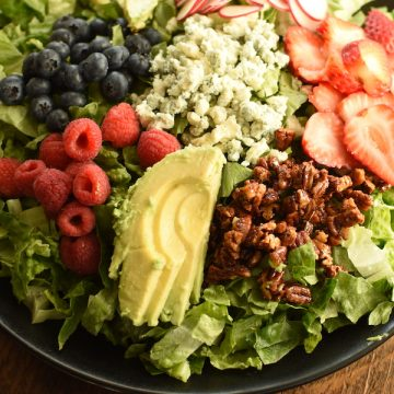 nuts about berries salad with poppyseed dressing | NoBiggie.net