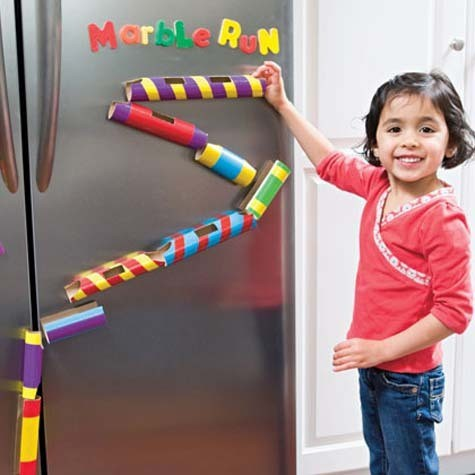 toilet paper tube marble run | 25+ Toilet Paper Tube Crafts