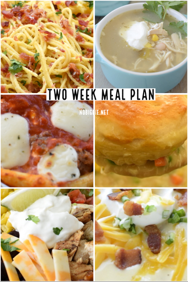 two week meal plan | NoBiggie.net