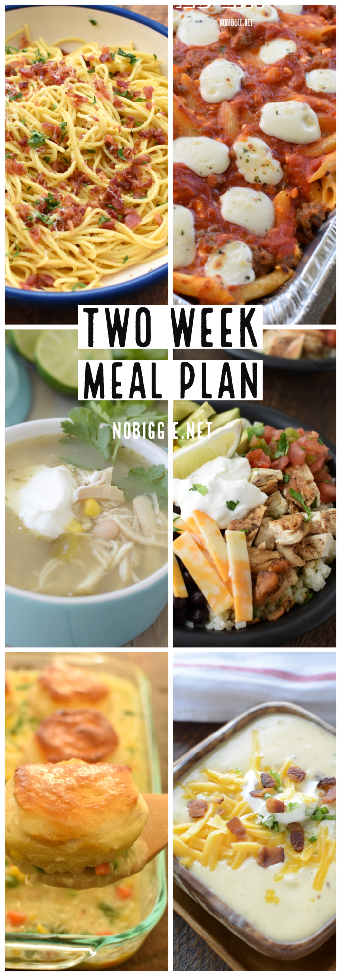 two week meal plan | NoBiggie.net