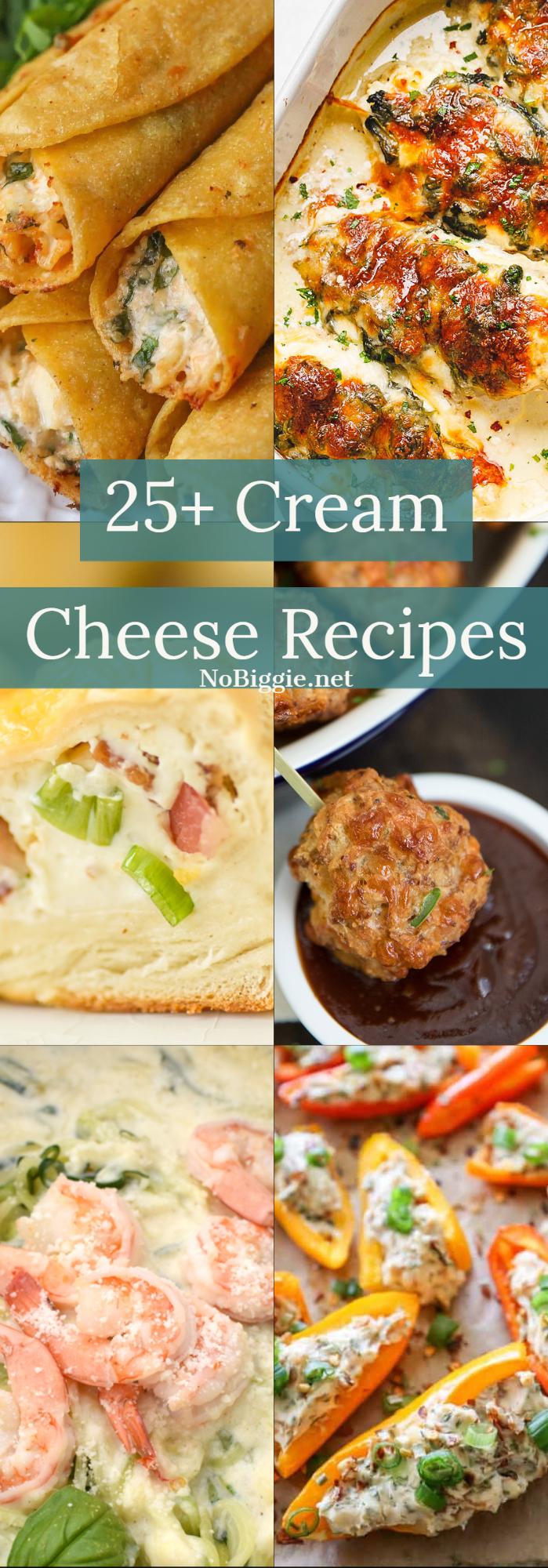 25+ Cream Cheese Recipes | NoBiggie.net