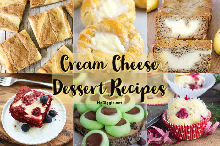 Cream Cheese Dessert Recipes | NoBiggie.net