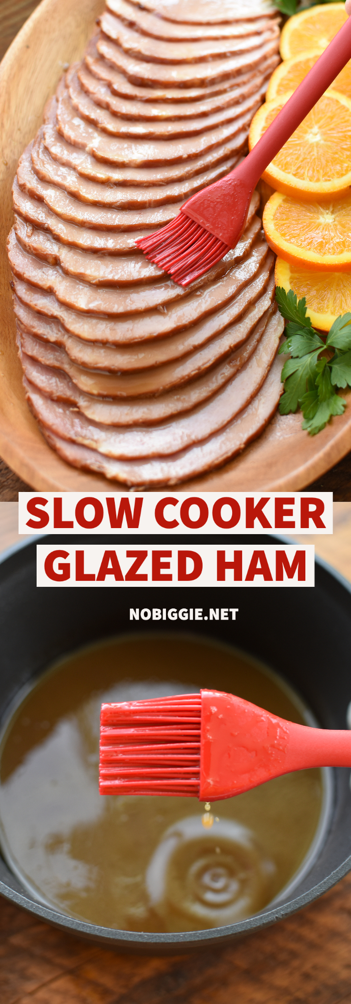 Slow Cooker Glazed Ham | NoBiggie.net