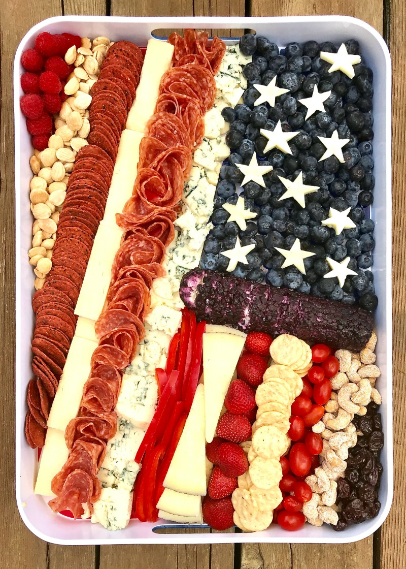 American Flag Cheese Tray | Patriotic Charcuterie Boards